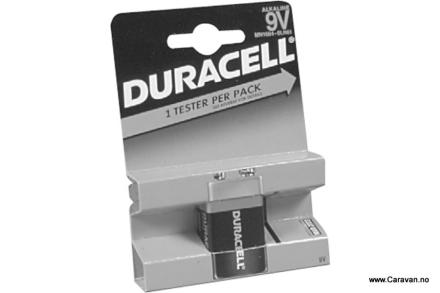 DURACELL BATTERI 9 V, 6LR61 MN 1604