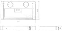 Filteravtrekksvifte click 12V, rustfritt stål, 40x21x5 cm, LED