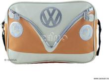 VW collection skulderveske VW Bulli tverrgående, oransje/krem, 25x35x10 cm