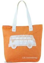VW collection Canvas shopper bag oransje, størrelse 40x35x10 cm