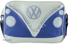 VW collection skulderveske VW Bulli, blå/krem, tverrgående, størrelse 25x35x10 cm