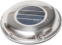 Carbest solcelleventilator 215 mm, rustfritt stål utsnittmål 160 mm