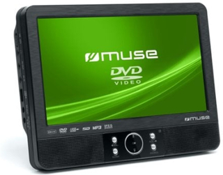 Muse M-990 CVB, Portable DVD player, Tabletop, Svart, CD-lyd, CD-video, SVCD, VCD, CD,CD-R,CD-RW,DVD,DVD+R,DVD+RW,DVD-R,DVD-RW, 22,9 cm (9