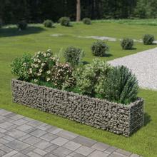 vidaXL Korotettu kivikori/kukkalaatikko galvanoitu teräs 270x50x50 cm
