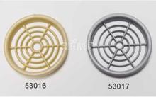 Møbel-ventilasjonsrosett 60 mm rund grå