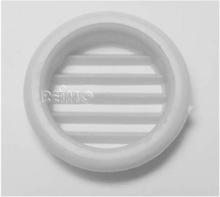 Møbel-ventilasjonsgitter 32 mm rund grå