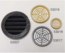 Møbel-ventilasjonsgitter 60 mm rund krem