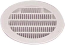 Ventilasjonsgitter rund ø100 mm, hvit