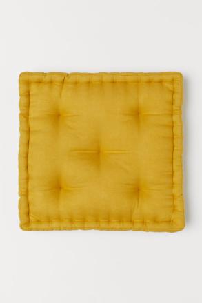 H & M - Pellavainen istuintyyny - Keltainen