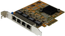 PCIe Gigabit-nätverkskortadapter med 4 portar