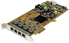 Gigabit Power over Ethernet PCIe-nätverkskort med 4 portar - PSE/PoE PCI Express-nätverkskort