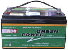 Green power AGM batteri 100Ah, 335x170x210 for T5, 29 kg