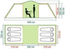 Ridgeline 6 Plus - familietelt til 6 personer