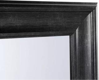 Beliani Spegel 51 x 141 cm svart LUNEL