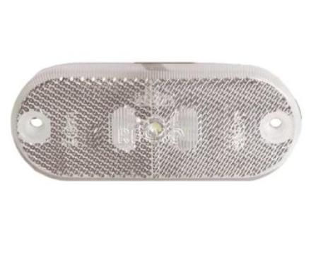 JOKON LED-BEGRENSNINGSLYS, 12V, 0.6W, KLARE 100 MM KAB EL, IP67 FLATE