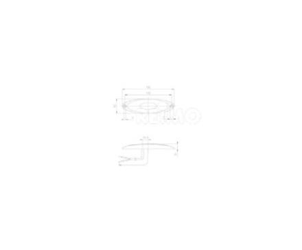JOKON LED-BEGRENSNINGSLYS, 12V, 1W, KLARE, 500 MM KABEL, IP67 KLAR RAMME