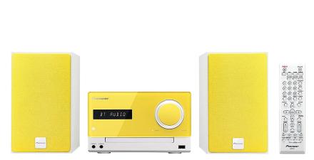 Pioneer XCM35L Hi-Fi-mikrosystem gul