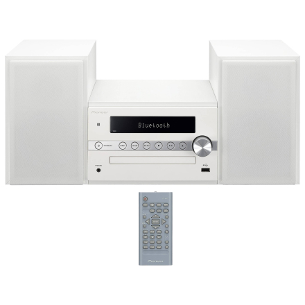 Pioneer X-CM56 hvid Bluetooth CD FM USB Hi-Fi-mikrosystem