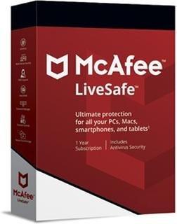 McAfee LiveSafe Antivirus 12+3 månaders specialerbjudande
