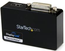 Extern USB 3.0 till HDMI- och DVI-videokortsadapter för dubbelskärm