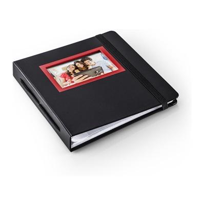 HP Sprocket album i rött och svart