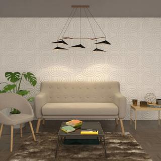 vidaXL vægpanel 24 stk. 3D 0,5 x 0,5 m 6 m²