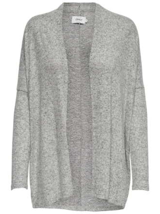 ONLY Loose Knitted Cardigan Women Grey