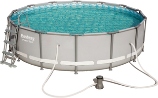 Ovanmarkpool 4,3m diameter - Bestway Power Steel (56641)