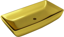 vidaXL Handfat 71x38x13,5 cm keramik guld