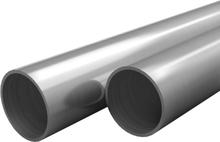 vidaXL Rör i rostfritt stål 2 st rund V2A 1m 42mm