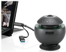 Lenovo VoIP 360 - Konferansekamera - farge - 1920 x 1080 - lyd - USB - MJPEG - DC 5 V