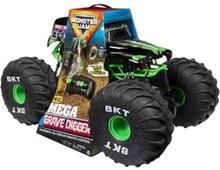 Monster Jam Mega Gravedigger, Monster truck, Elektrisk motor, 1:6, Klar-for-å-kjøre (RTD), Grønn, Gutt