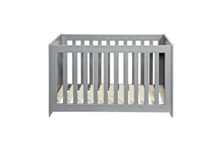 WOOOD New life cot pine brushed concrete grey