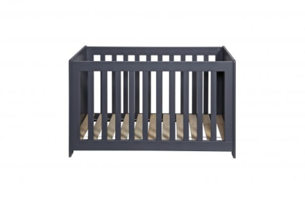 WOOOD New life cot pine brushed steelgrey