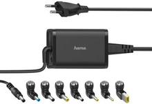 HAMA Nätdel Notebook Universal 100-240V 15-19V/45W 8x Adapter