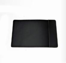 Skrivebordsunderlag - sort læder (medium)
