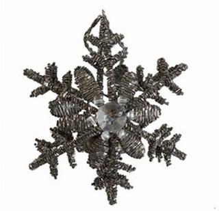 Snowflake lysestage - grå