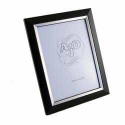 Træ fotoramme i sort og sølv 13x18 cm