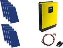 Hybrydowy zestaw solarny on-grid HPS-3kW-48 MPPT 8xPV Poli