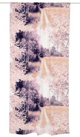 Maalla valmisverho, lila, 140x250cm