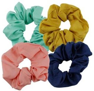 Everneed Scrunchie Mint, Karry, Rosa & Navy 4 stk