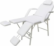 vidaXL Bärbar behandlingsstol konstläder 185x78x76 cm vit