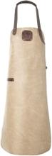 Læder forklæde i taupe - Witloft