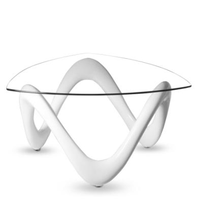 Omega-sohvapöytä, valkoinen