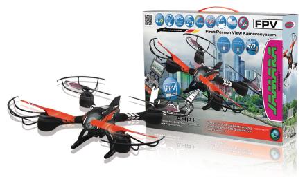 Jamara Kauko-ohjattava kopteri R/C Drone Loky 4+4 Channel RTF