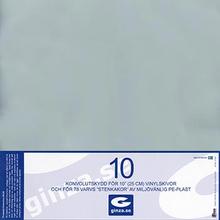"""Skyddsplast för EP-Skivor 10"""""""" (0,14 mm) 10-pack"""