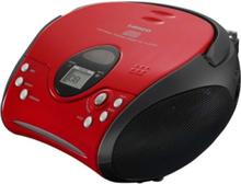 FM Radio SCD-24 - boombox - CD - FM - Stereo - Rød