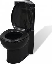 Hjørne toalett - sort