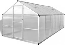 Veksthus forsterket aluminium 10,53 m²
