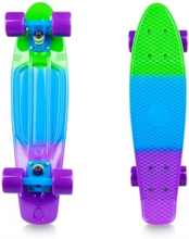 Pennyboard Sunbow 22, green/blue/violet, Worker